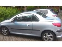 Peugeot 206cc for sale, 2nd owner from 1 year old