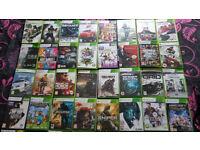 XBOX 360 CONSOLE, 40 GAMES, 2 XPLODER DISCS PLUS EXTRAS.