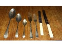 Vintage 1950's boxed set of stainless steel cutlery