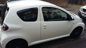 REDUCED!!!!Toyota Aygo Ice 1.0 2013 white Full Warranty, Immaculate No car tax