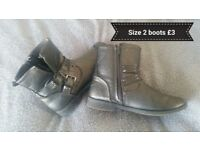 Silver/ grey boots