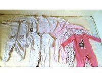Cotton sleepsuits (9-12 months)