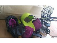 Babystyle oyster buggy, carrycot and car seat. Need go ASAP