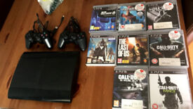 Playstation3, with 8 Games, 2 control & leads.
