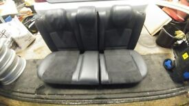 renault clio rear 1/2 leather seats