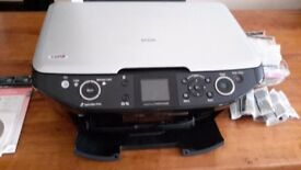 Epson Stylus Photo RX585 printer with cartridges