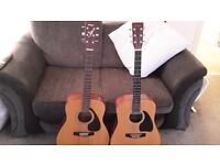 acoustic guitars x2.yamaha and a kimbara bargain.genuine calls only no texts replied to