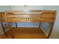 Pine Single Midsleeper Bed Frame