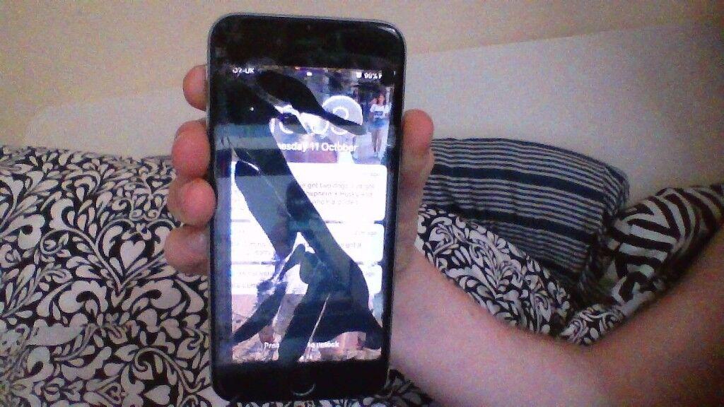 i phone 6 space grey 16gb broken screen