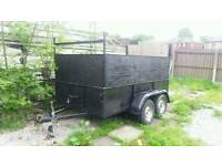 Twin wheel axle car trailer 9x5