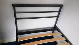 Jay-be Metal Single Bed Frame with sprung slats(Gun Metal)