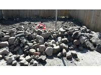 Rocks, stones, and rubble for FREE. Just come collect. Around 1 tonne various sizes