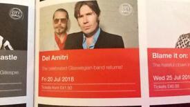 Del Amitri tickets x 4 City Hall Newcastle 20th July 2018