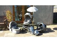 iCandy Peach 2 Silvermint complete travel system