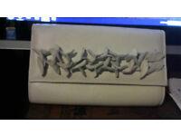 Leather clutch/shoulder bag