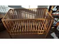 Natural Colour Baby Cot Bed