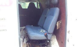 Twin rear van seat with fitting kit and built in seat belts good quality