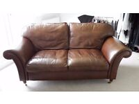 LAURA ASHLEY MORTIMER SOFA IN LANSDOWNE LEATHER CURRENT RRP IN STORE £2450 - VGC