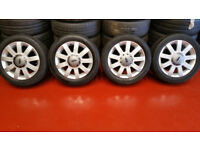 Ford Genuine 15 alloy wheels + 4 x tyres 195 50 R 15 82V