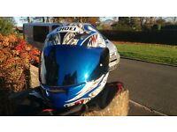 shoei motorcycle helmet superb size m