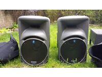 Pair Of Mackie SRM450 V1 Speakers & Snazzy Travel Bags,