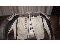 Indian Coast retro style leather motorcycle jacket size XL