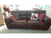 Two number 3 seater leather sofas