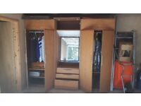 Wardrobes: Two Large triple unit Wardrobes