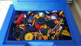 Original K-NEX carry case full of various K-NEX kits and instructions, excellent condition