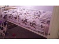 Mid high white metal bed £60 ono