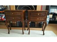 Beautiful pair of French style side tables