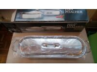 Fish Kettle Poacher. Stainless steel hardly used. Boxed. good condition