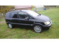 2003 VAUXHALL ZAFIRA ELEGANCE facelift model, 7 seater, long mot