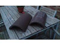 Marley Segmental half round ridge tiles in brown