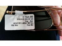 New In box Rayban aviator sunglasses. Free local delivery