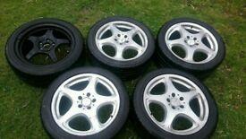 Five Mercedes Benz alloy 18 rims with tyres, Ashford,Kent
