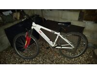 FOR SALE- Saracen xray mountain bike, white and red, front suspension £60