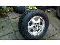 Discovery 2 spare alloy wheel new tyre never been on the ground