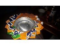 Soda can ashtrays. Made of any can desired. Soda or beer can of your choice.
