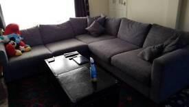 Dillon large corner sofa an foot stall