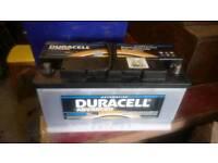 Nearly new duracell DA 100 automotive (caravan) battery