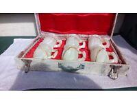 Rare Vintage Onyx Handmade Mugs in Presentation Case
