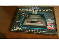 BOXED CLASSIC SEGA MEGA DRIVE 2 WITH MANUALS AND ALL ACCESSORIES COMPLETE