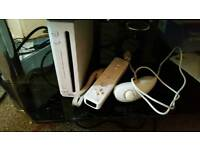 Wii Console with controller and nunchuck