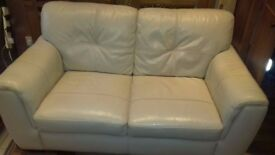 LEATHER 2-seater sofa,2 maching armchairs,2 footstools