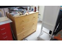 Ikea wooden chest of drawers