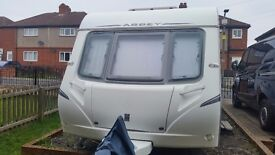 ABBEY VOGUE 495 2007 4 BERTH fixed bed,new tyres and new motor mover reduced further price of £6500