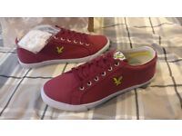 Lyle And Scott Mens Canvas – size 9 – Red - BRAND NEW
