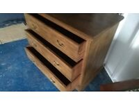 Lovely solid set drawers - dovetail jointed drawers