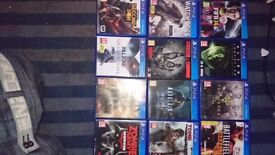 12 ps4 games all perfect working order